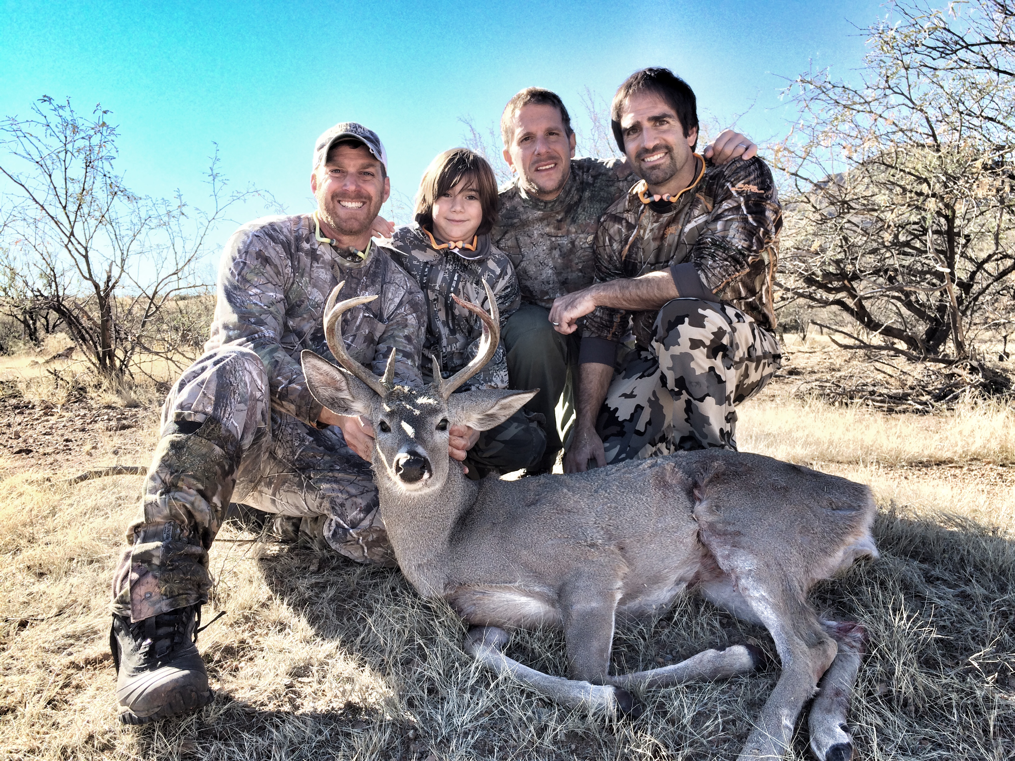My cousins and nephew with coues buck