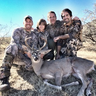 My cosuins and nephew with coues buck