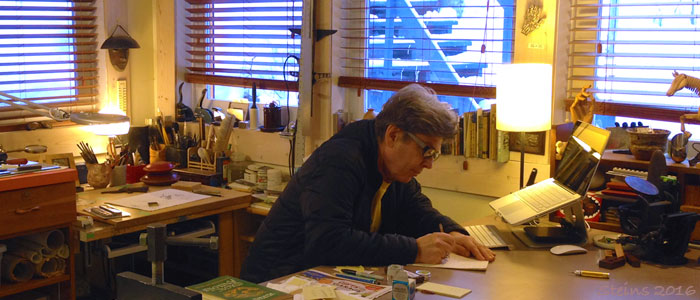 John Steins in his studio