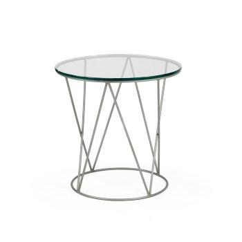 Calypso End Table, Glass