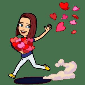 Bitmoji with Hearts