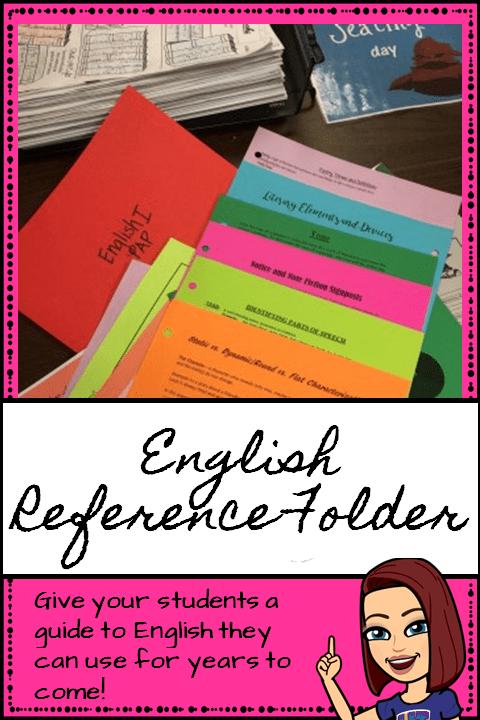 English Reference Folder Pin