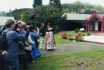 Marae traditional welcome