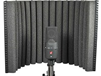 """A key tool (though not the only one) for getting good vocal recordings in non-optimal rooms. The reflexion filter provides a small, acoustically dead area to record vocals in, counteracting the worst effects of overly """"live"""" rooms."""