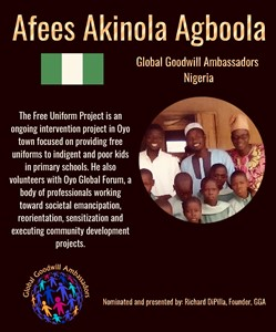 Afees Akinola Agboola - Global Goodwill Ambassador