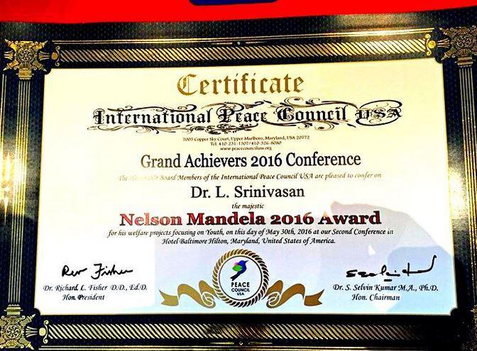 Certificate-Nelson-Mandela-2016-Award-Dr.-L.-Srinivasan