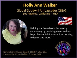 Holly Ann Walker - Los Angeles - USA - Global Goodwill Ambassador