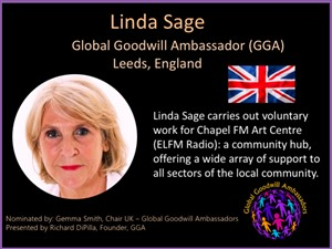 Linda Sage - Global Goodwill Ambassador
