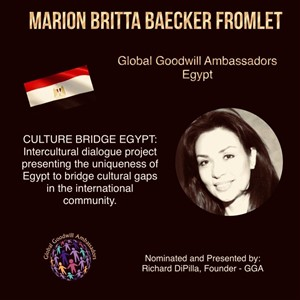 Marion Britta Baecker Fromlet - Global Goodwill Ambassador