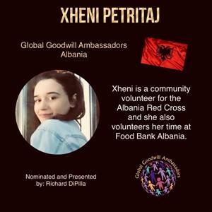 Xheni Petritaj - Albania - Global Goodwill Ambassador