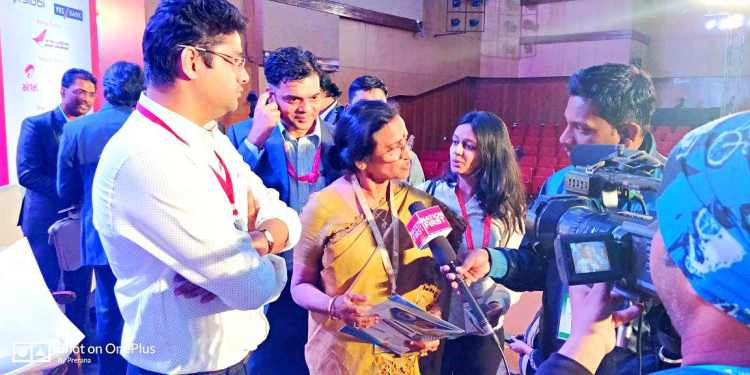 Dr Rita Bahuguna Joshi Minister of Women Welfare Family Welfare Maternity and Child Welfare and Tourism at Government of Uttar Pradesh informing the press