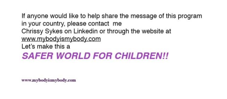 A Safer World For Children - Chrissy Sykes is on LinkedIn and has a website