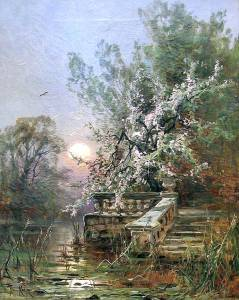 Photo of painting by Julius Sergius von Klever (1850-1924)