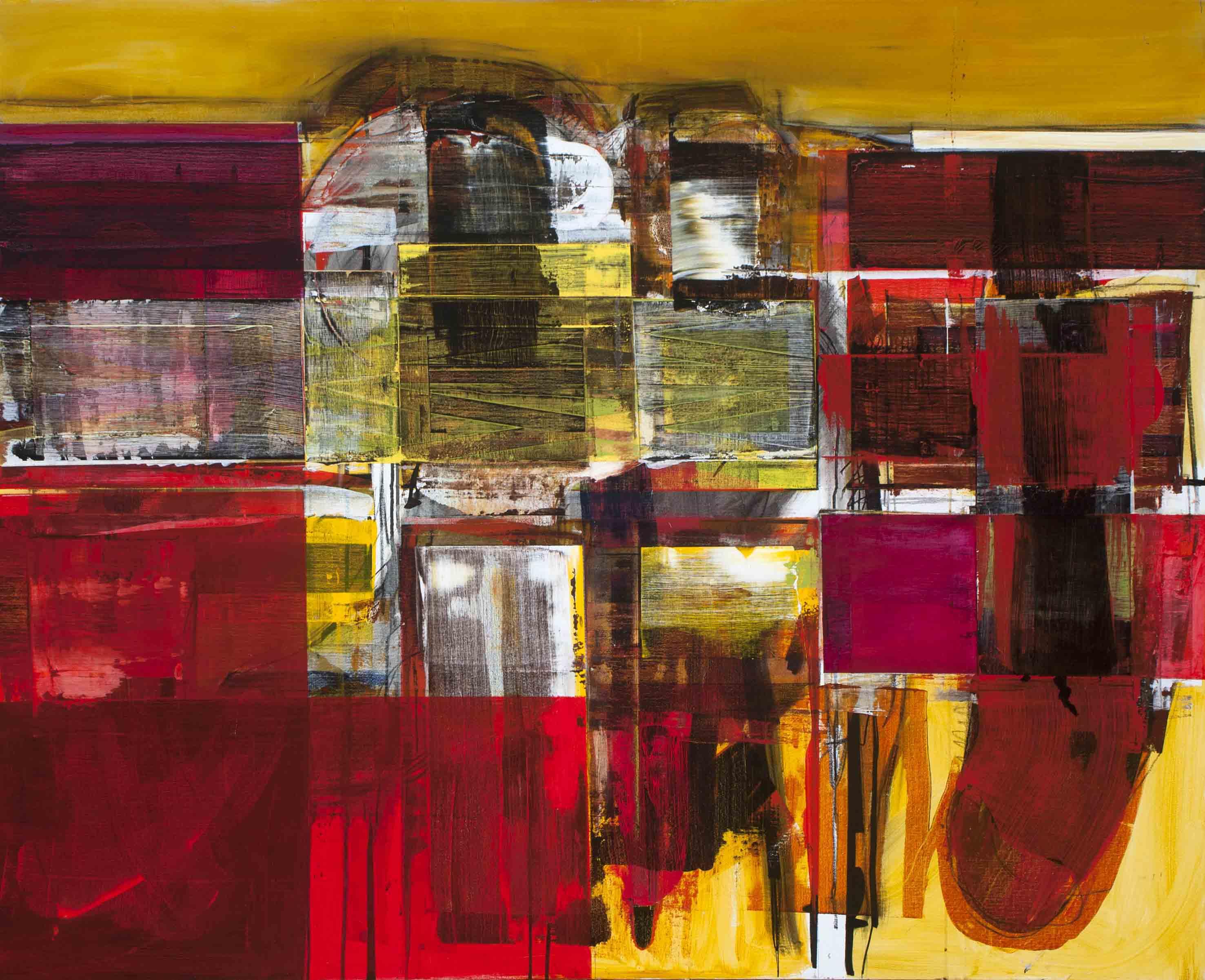 John Waller Mallee 1, 2014 Oil, acrlylic, graphite, pastel, charcoal on linen 122 x 152 cm