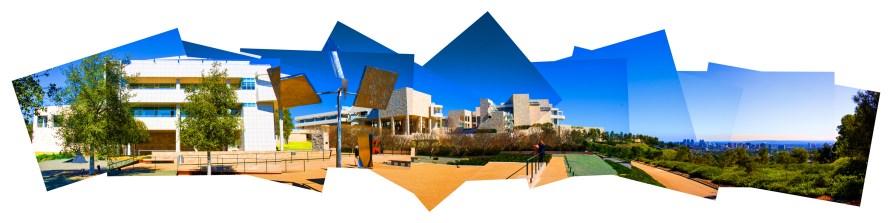 00103Getty Center from Sculpture Garden Flat Sat