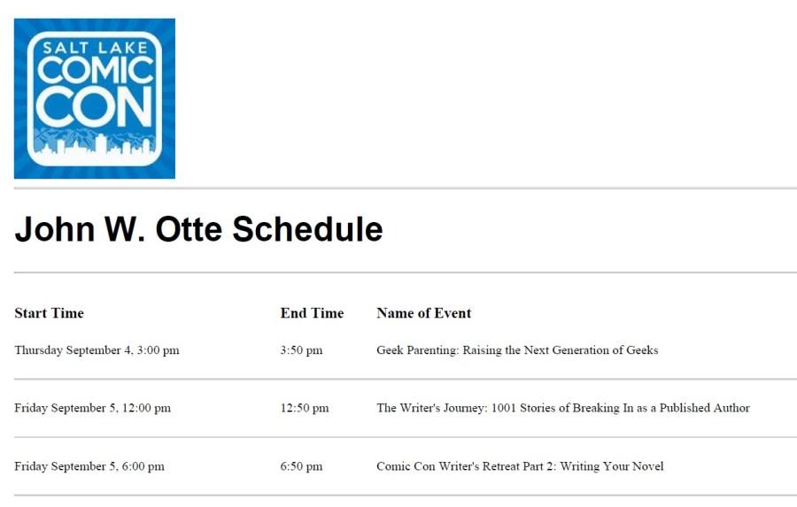 Con schedule