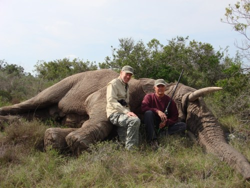 Dennis with Max and his Green hunted Elephant.