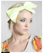 Helene Berman Fluorescent Big Bow Head Band