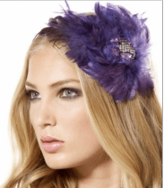Feathered Jewel Centered Headband
