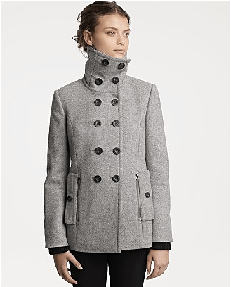 """Juicy Couture """"Goth Couture"""" Wool Flannel Pea Coat"""