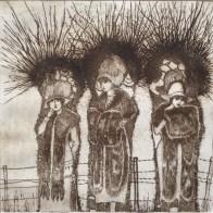 Henk van Wijk, etching Pollard Willows