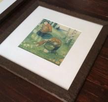 Mushroom pickers, framed