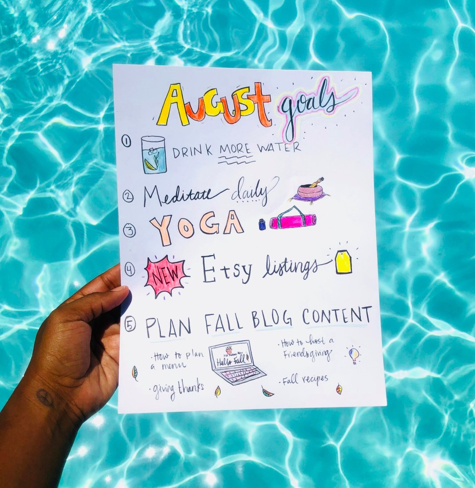 My August Goals | Joi-Knows-How.com