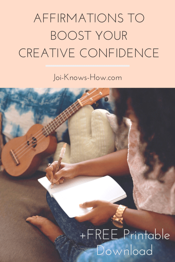 Affirmations to boost YourCreativity