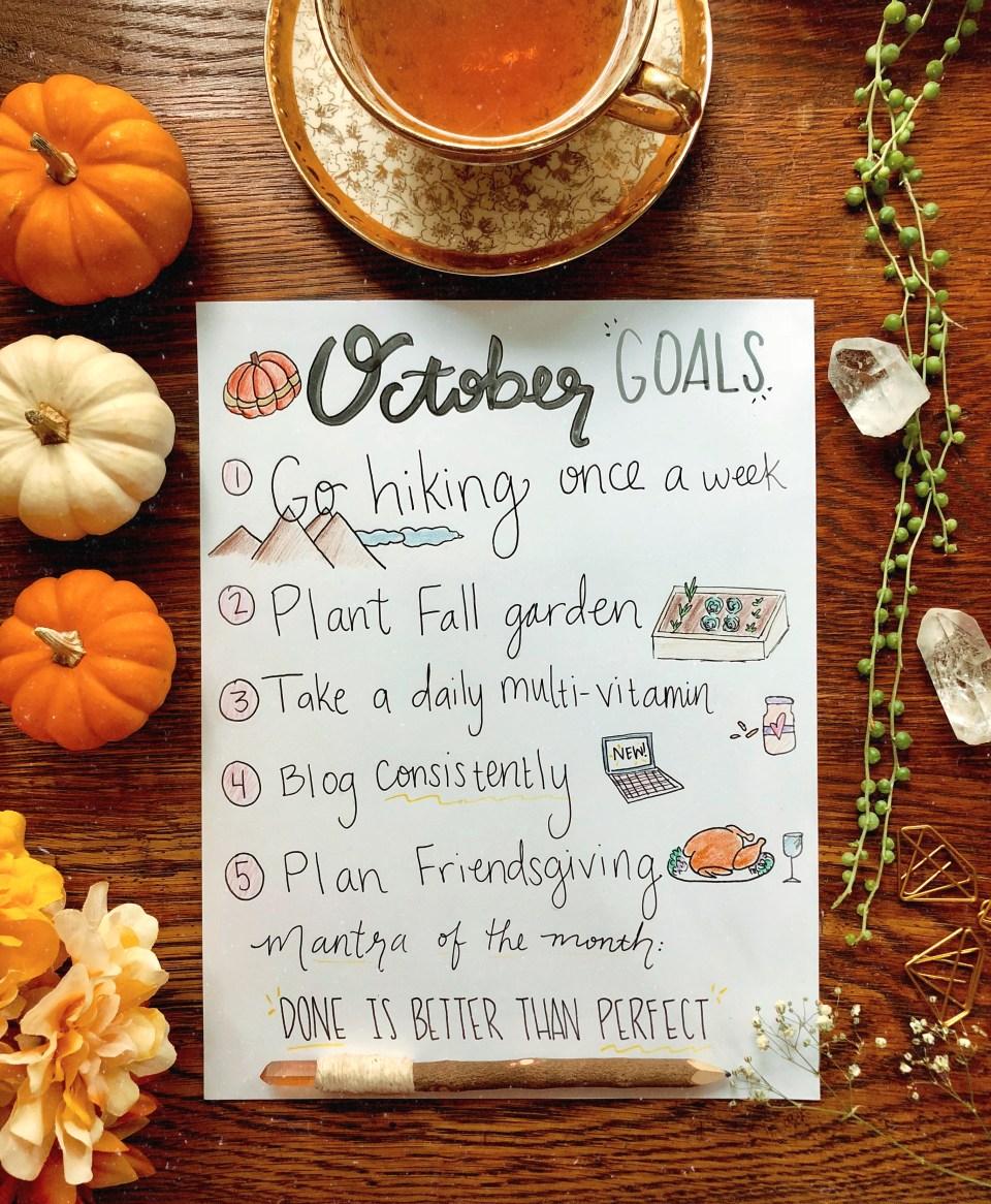 October Goals List   Joi-Knows-How.com