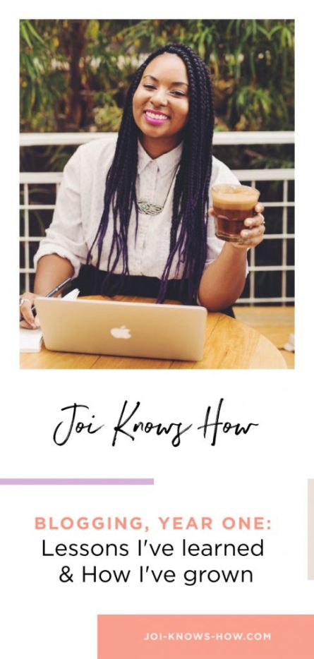 What I learned from my first year of blogging.