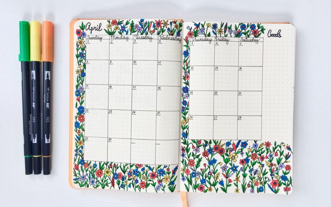 My April Plan Design