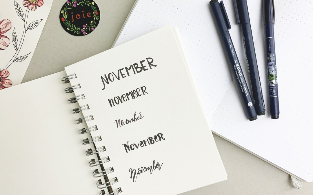 [101] Best Tips for lettering your monthly cover