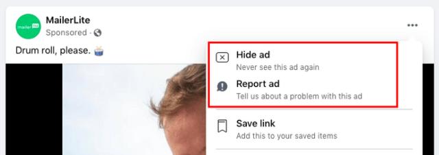Feedback negativo sugli annunci FB