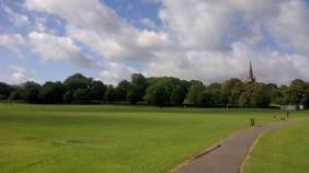 Green lawn of Cotteridge Park