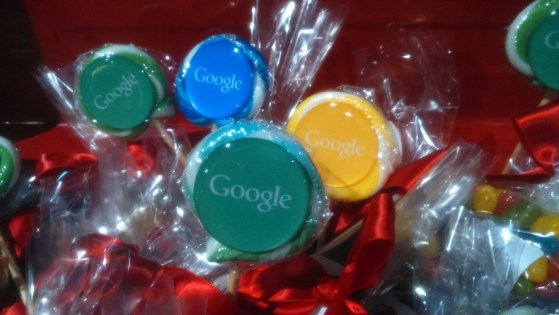 Lollies with the Google logo on