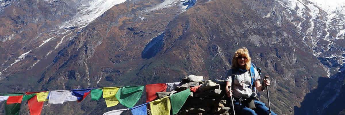 Davina at Everest Base Camp