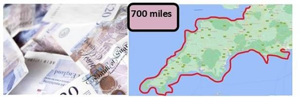700 mile coast walk map