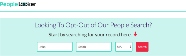 remove yourself from peoplelooker opt out removal