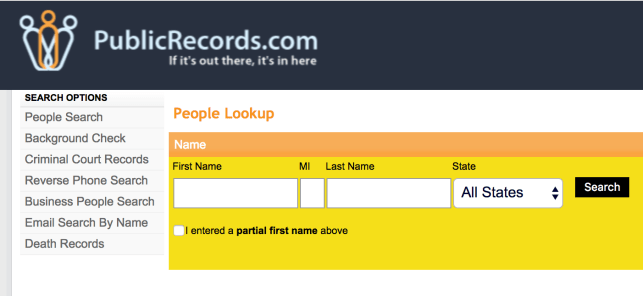remove yourself from publicrecords.com public records opt out removal