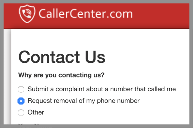 How to Remove Yourself from CallerCenter opt out removal