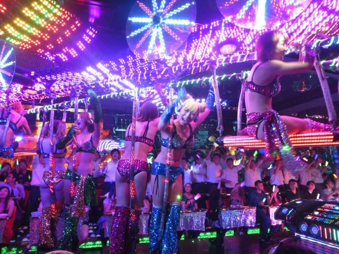 Dancers, glitz and glow sticks