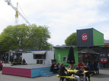 Shops re-opening in shipping containers