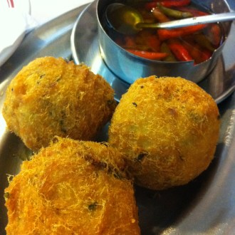 Salted cod balls