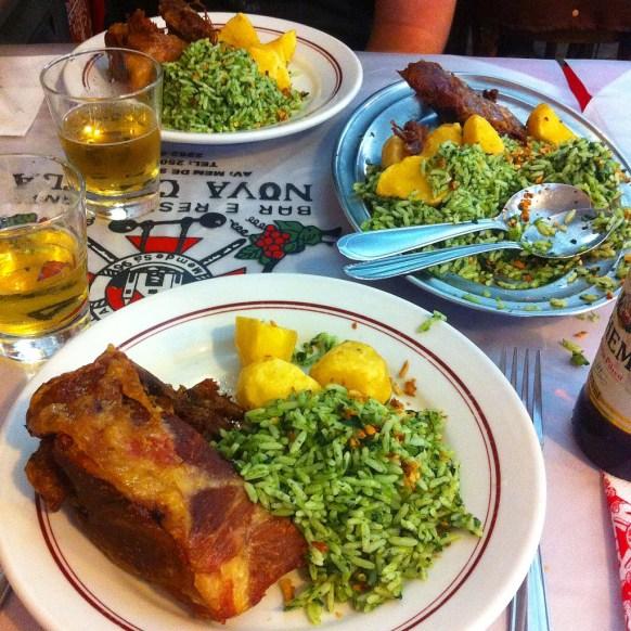 Lamb and broccoli rice