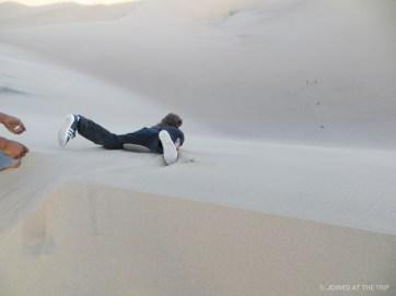 Bombing it down the dunes