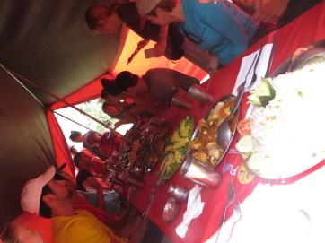 Inca Trail lunch