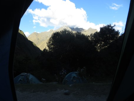 The view from our tent