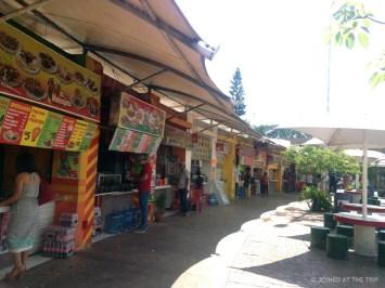 Parque las palapas food stands