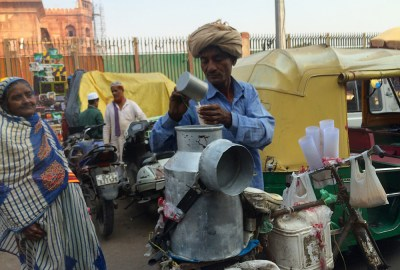 Chai tea seller