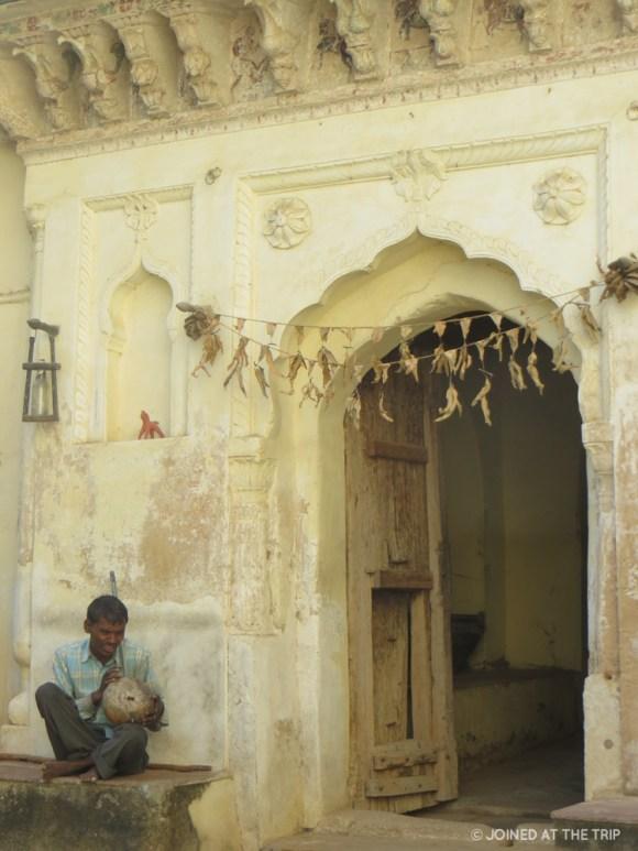 Blind man playing an ektara